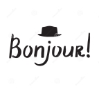 french-phrase-bonjour-modern-brush-calligraphy-handwritten-inspirational-lettering-poster-card-75313624